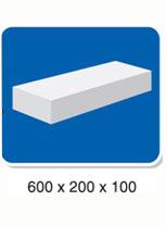 Gạch Bê tông khí chưng áp AAC 600x200x100mm