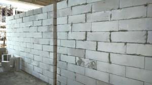 Hình ảnh thi công tại dự án - Xây tường bằng gạch nhẹ AAC